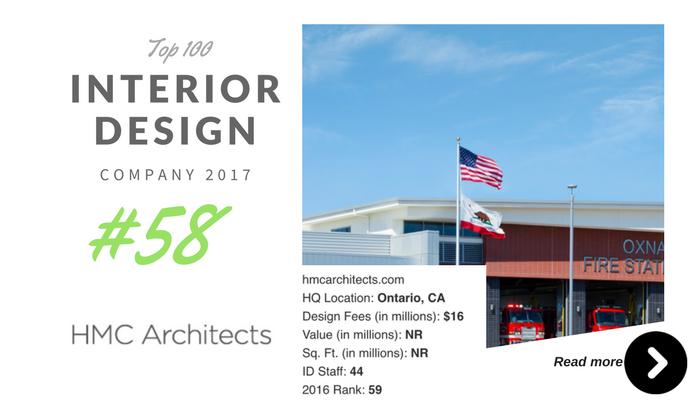 top 100 interior design company HMC architect