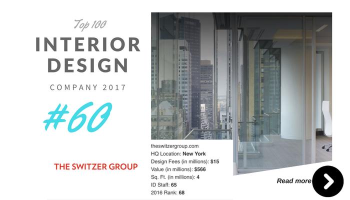 top 100 interior design company the switzer group