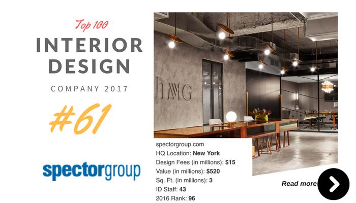 top 100 interior design company spector group