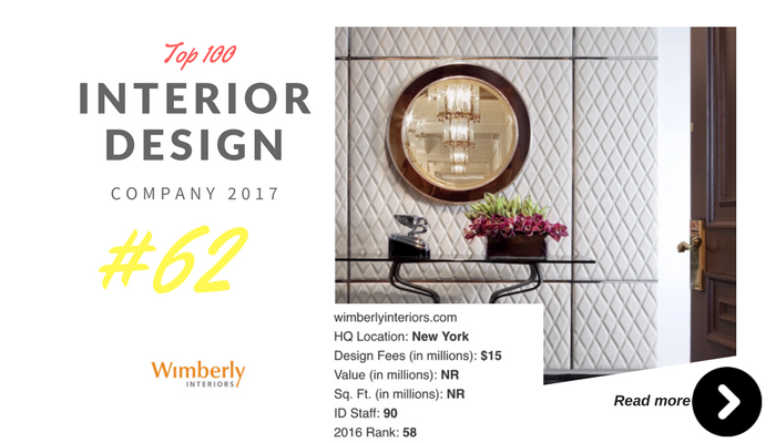 top 100 interior design company wimberly design