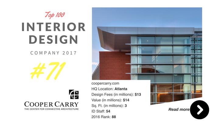 top 100 interior design company Cooper carry