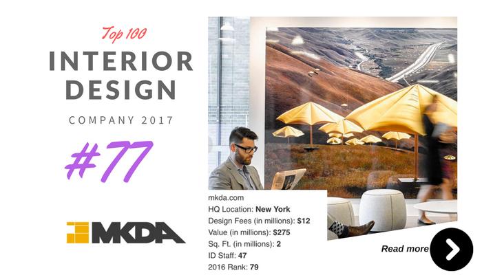 top 100 interior design company MKDA