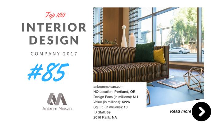 top 100 interior design company Anikrom moisan