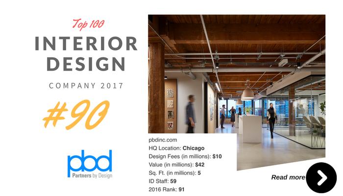 top 100 interior design company PBD
