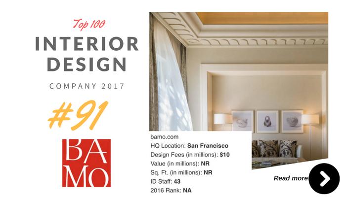 top 100 interior design company BAMO
