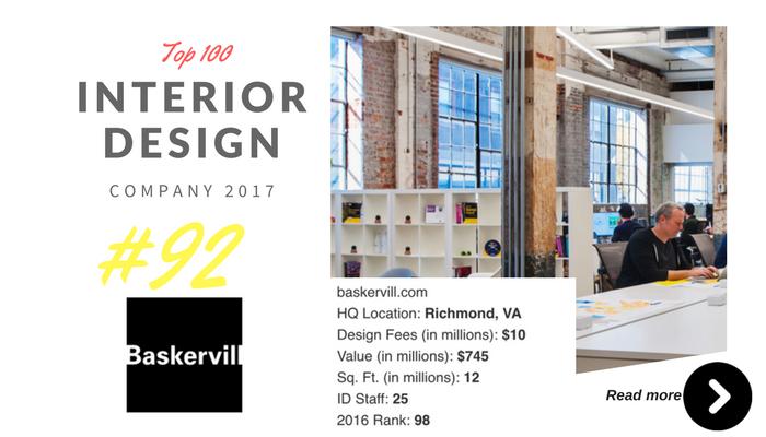 top 100 interior design company Baskervill