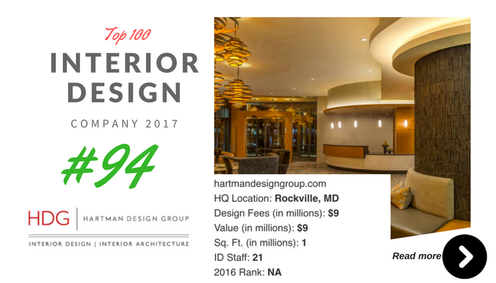 top 100 interior design company HDG