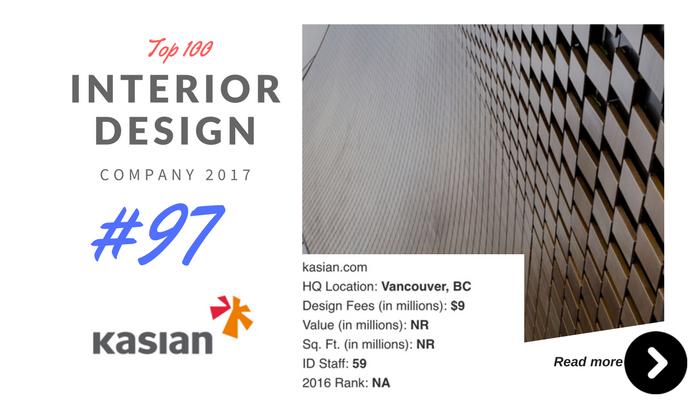 top 100 interior design company Kasian