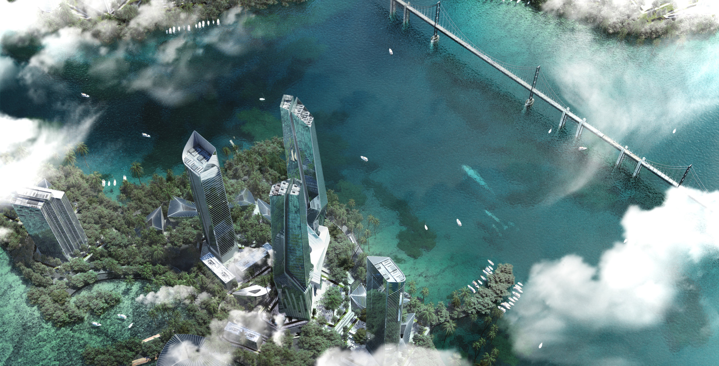 New Hope city The world Island