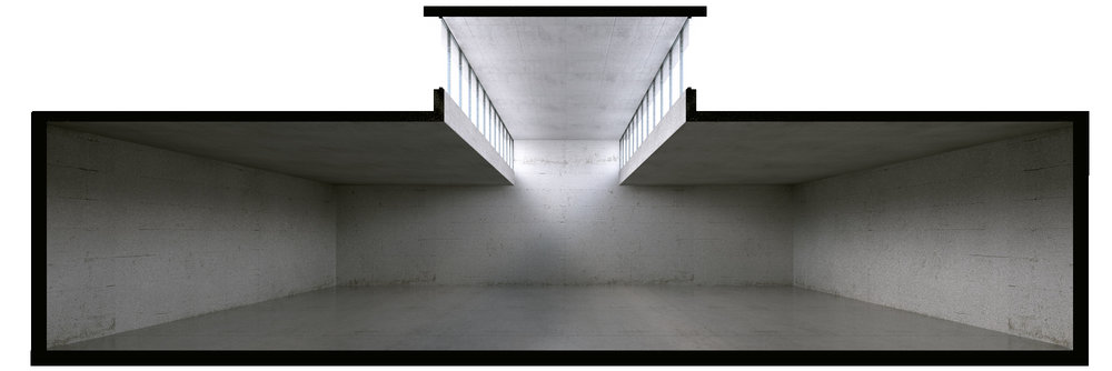 The 3rd section Lighting from above hall