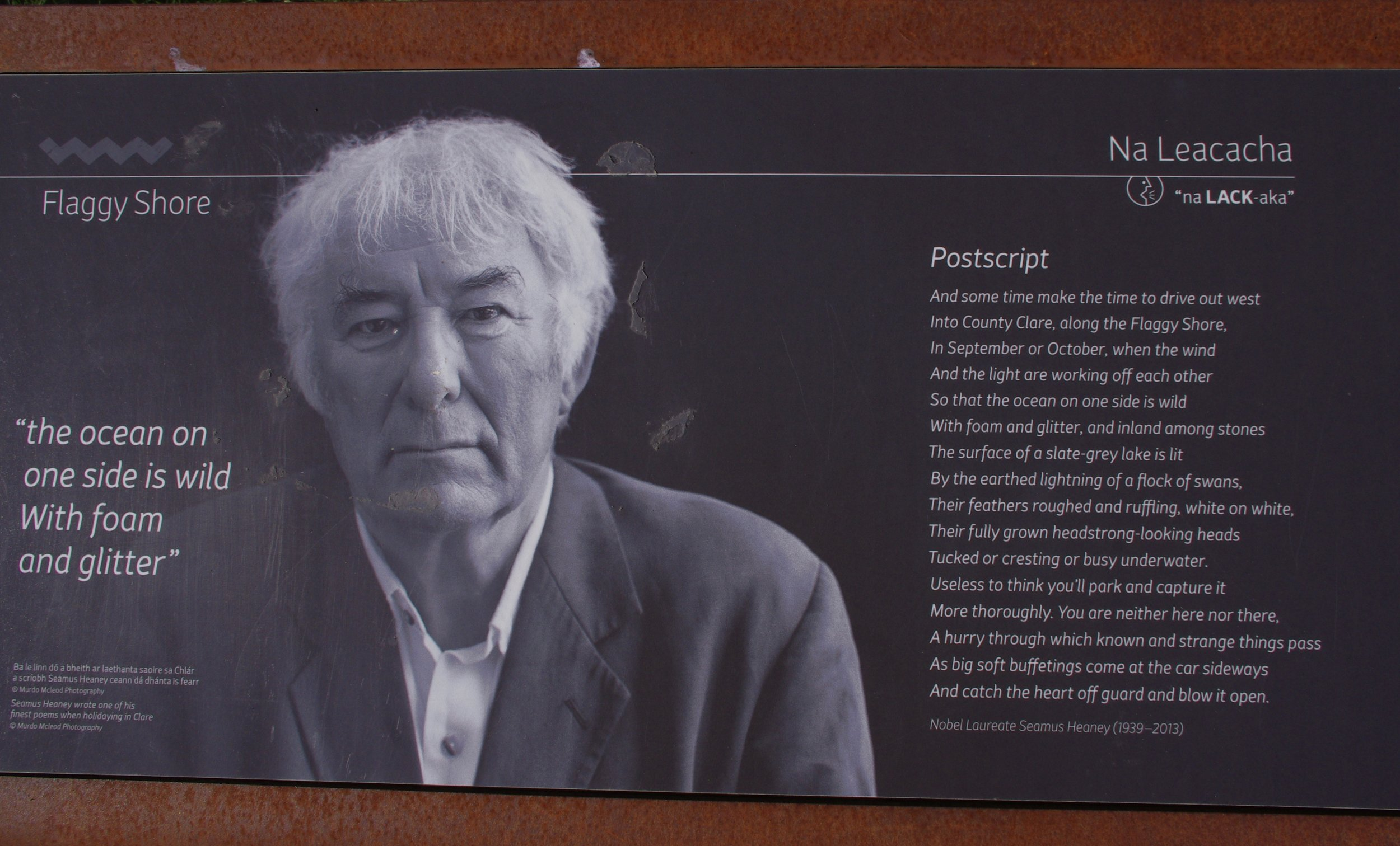 Seamus Heaney at the Flaggy Shore