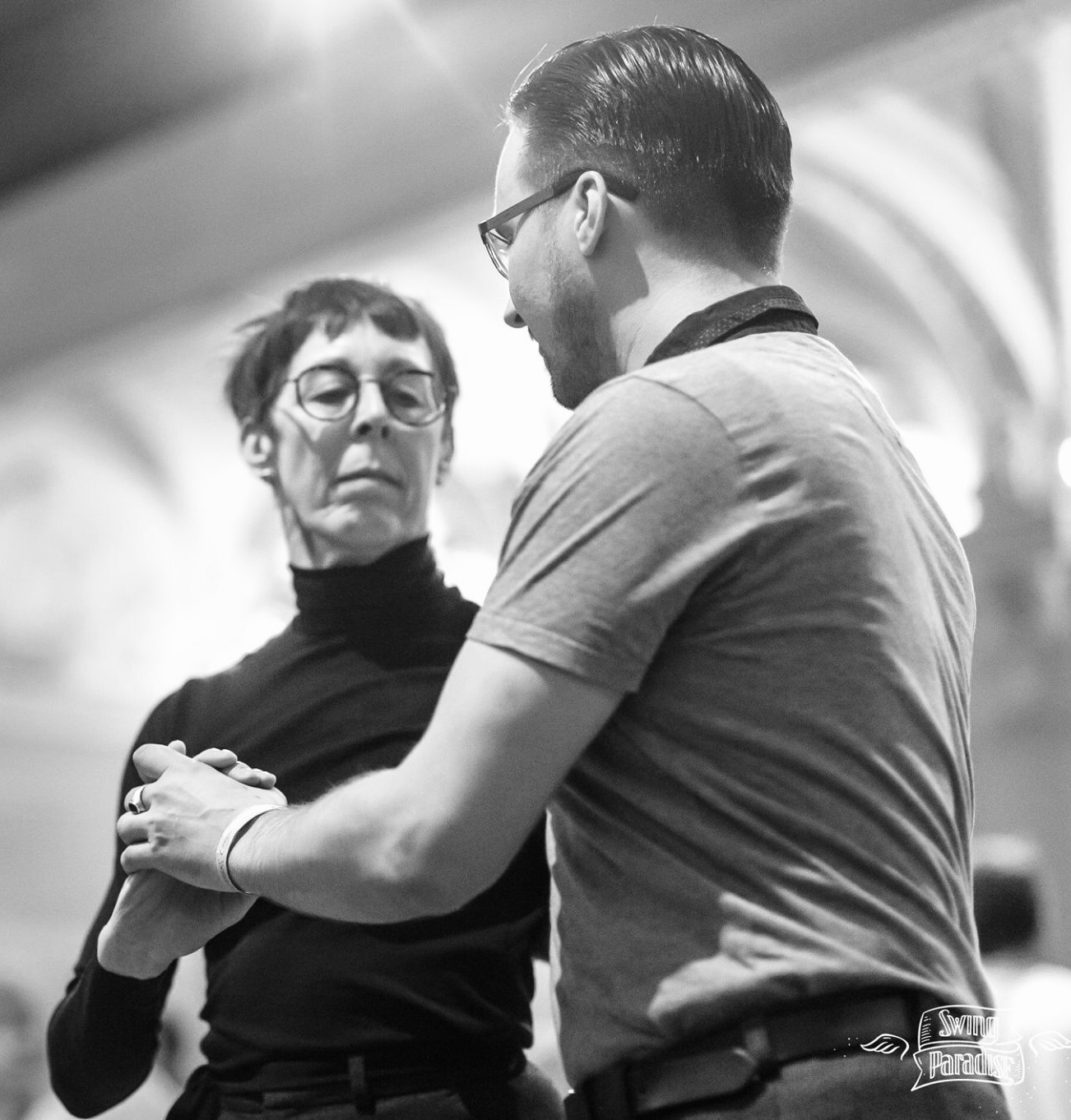 """Marijke Knockaert - In 2005 she discovered Authentic Jazz, Lindy Hop, Balboa and the whole worldwide Swing Community. She took classes & workshops all over the world. In 2009 she started teaching Lindy Hop and Authentic Jazz. She iss one of the starters of the Lindy Hop scene in Ghent: """"Gentse Hoppers"""", founder and teacher of the Balboa community in Ghent.She is a well known international Dj of Swing music.Last year she started to teach Balboa in BSDC, and this year she introduce the whole Team Balboa."""