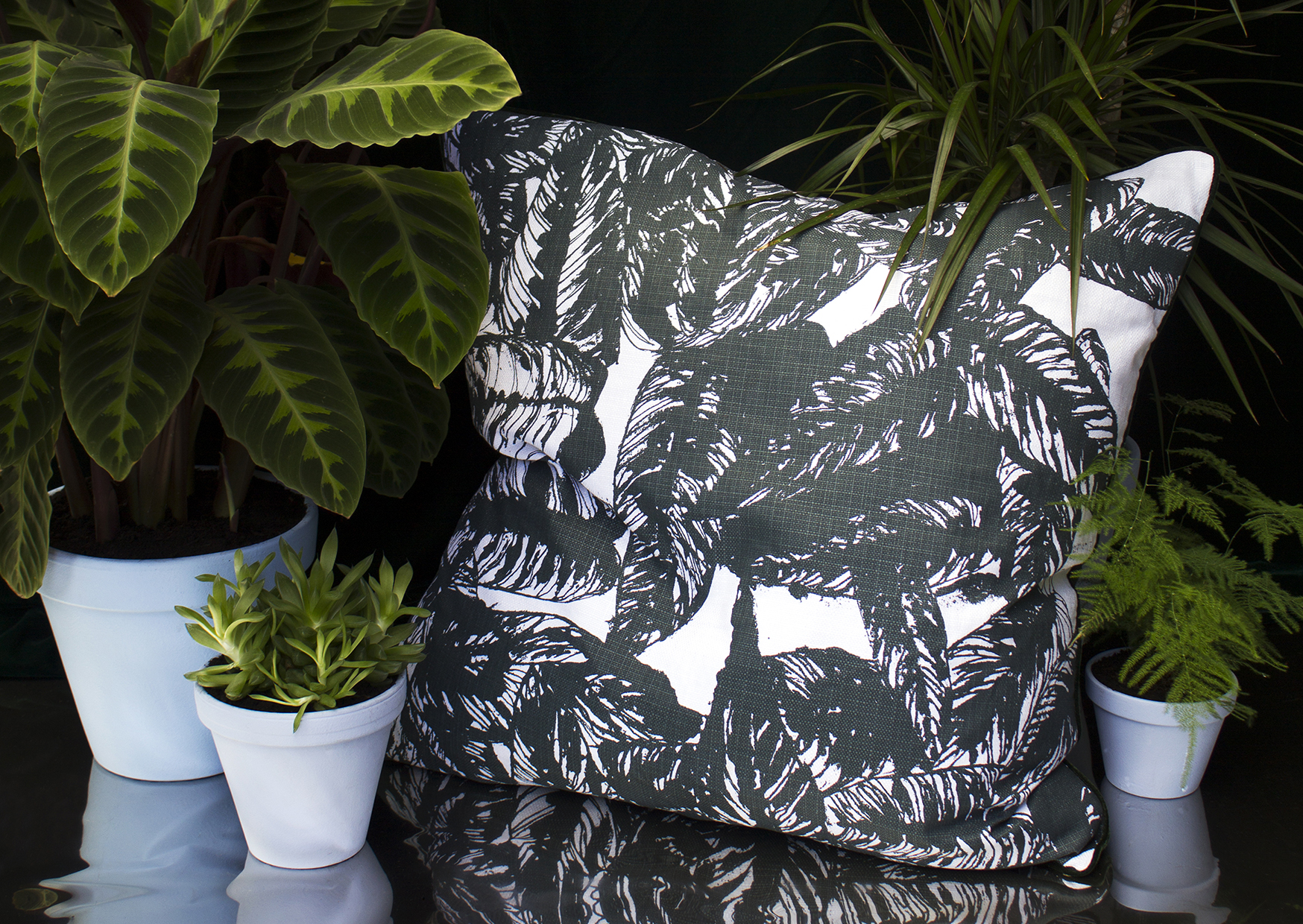 Calathea Large Cushion