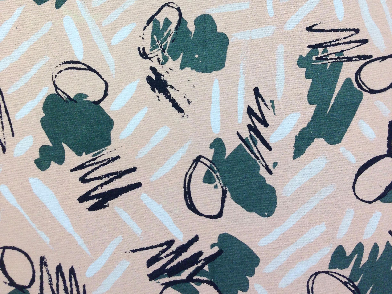 Four colour screen print onto fine cotton