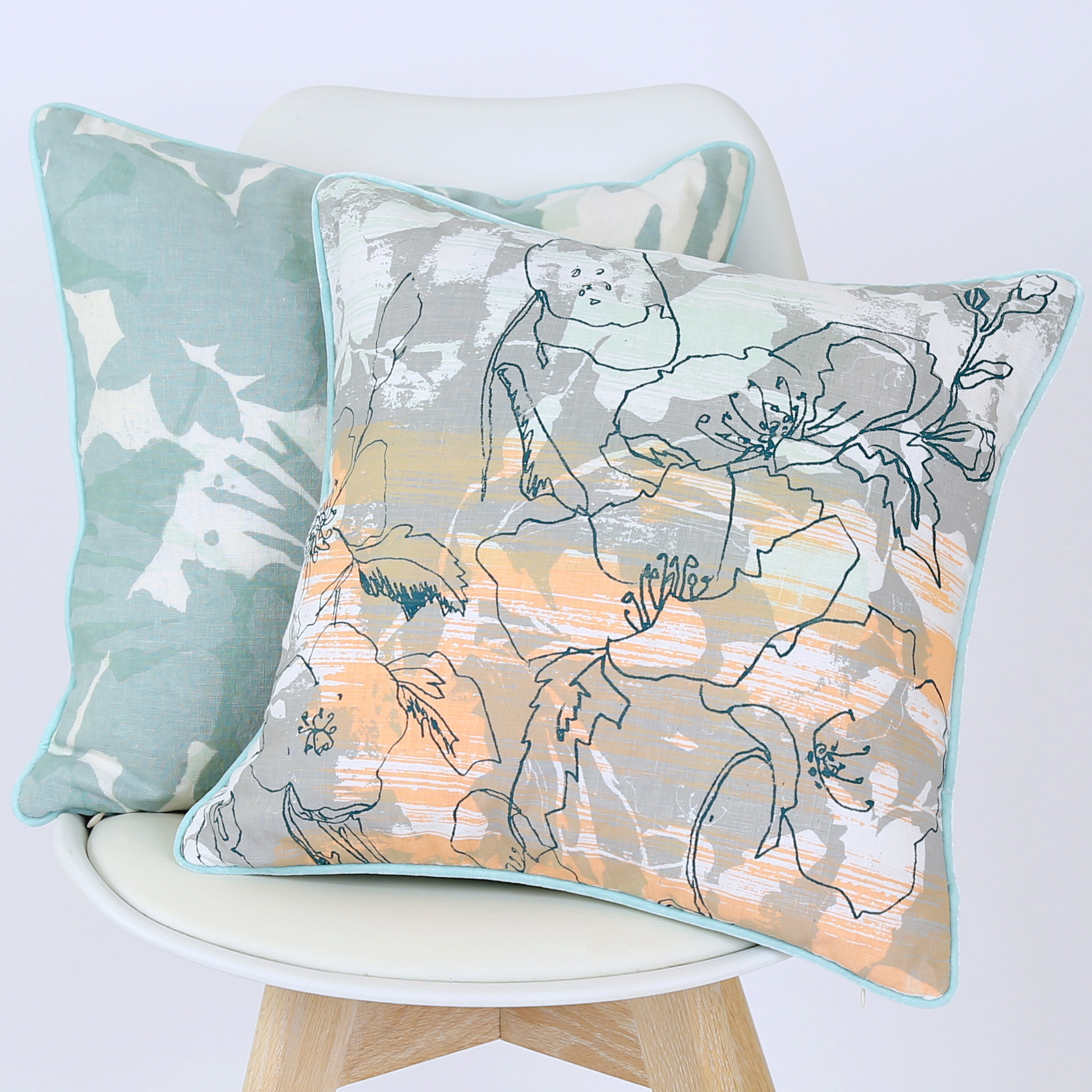 Emma   &   Wildflower Multi   screen printed cushions