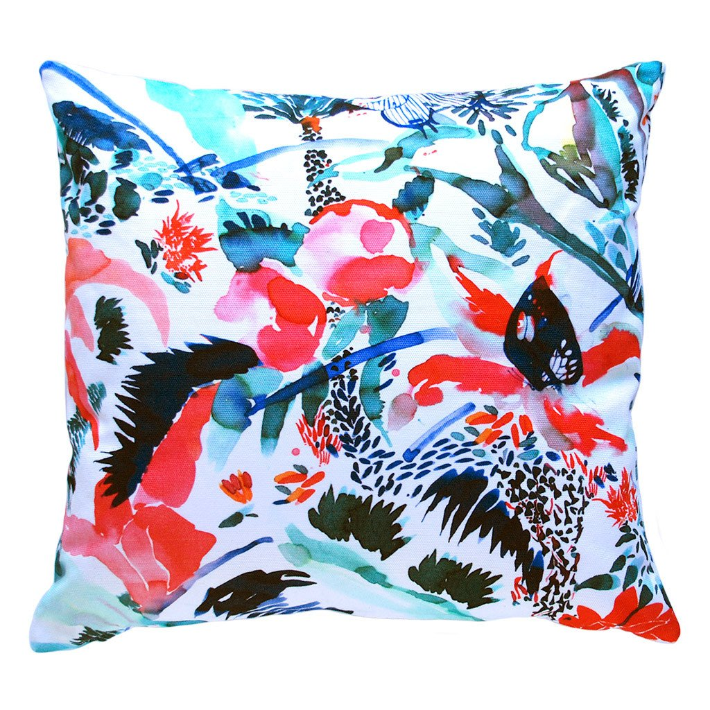 Claire de Quenetain cushions and lampshades