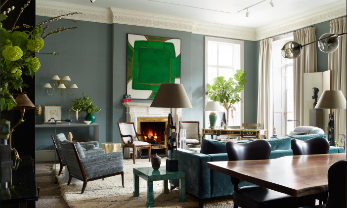 Douglas Mackie's stunning use of green in their Marylebone project