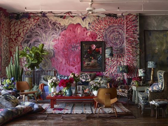 Martyn Thompson's vibrant, ever changing live/work loft space in Manhattan