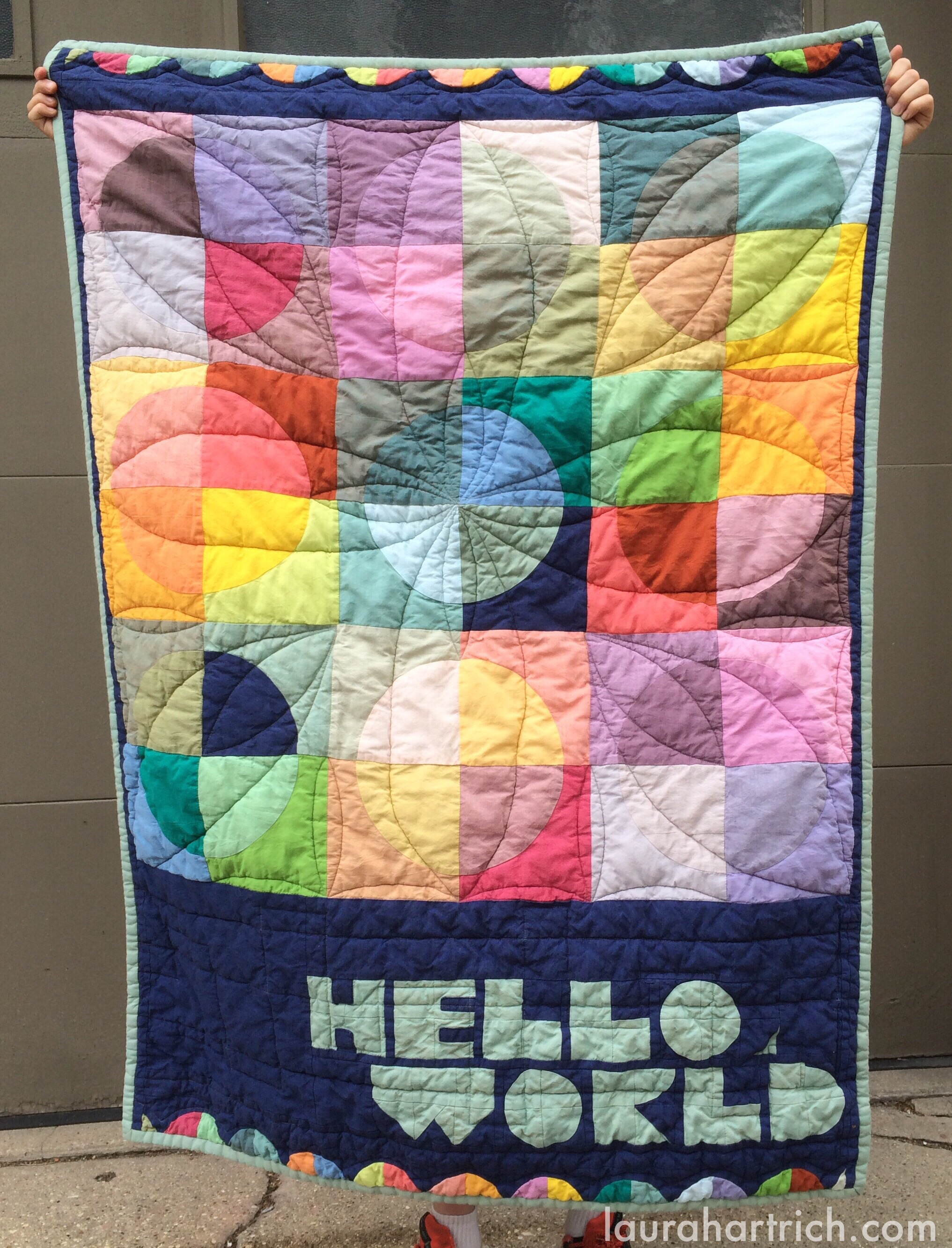 """Front of quilt. Measures 49""""x35"""""""