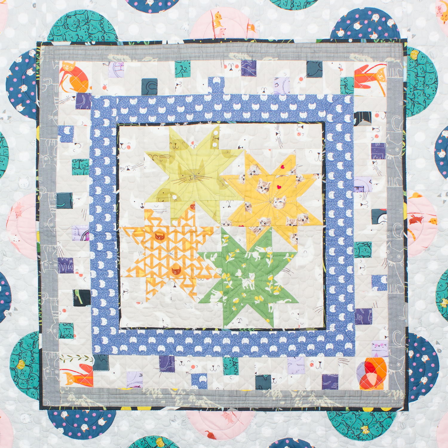 center block of medallion quilt