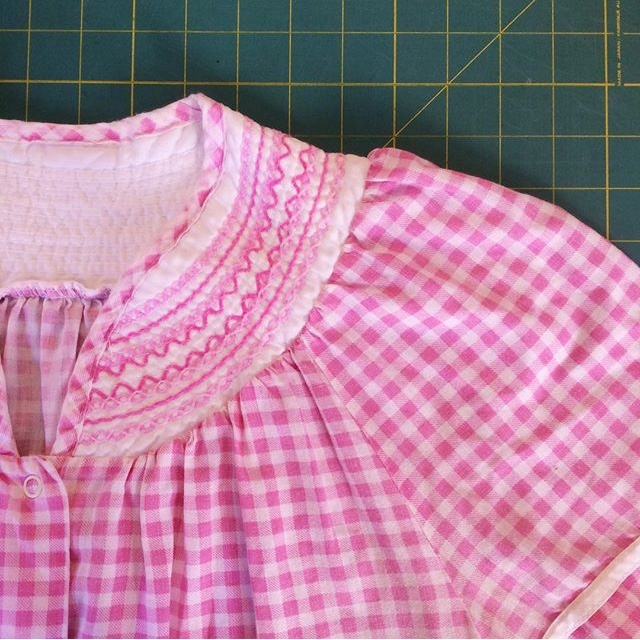 One of grandma's garments I included in the quilt