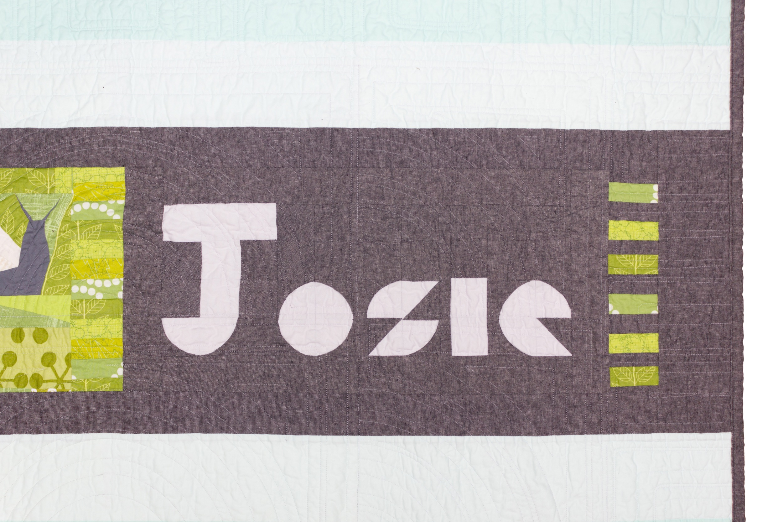 Josie's quilt, back detail