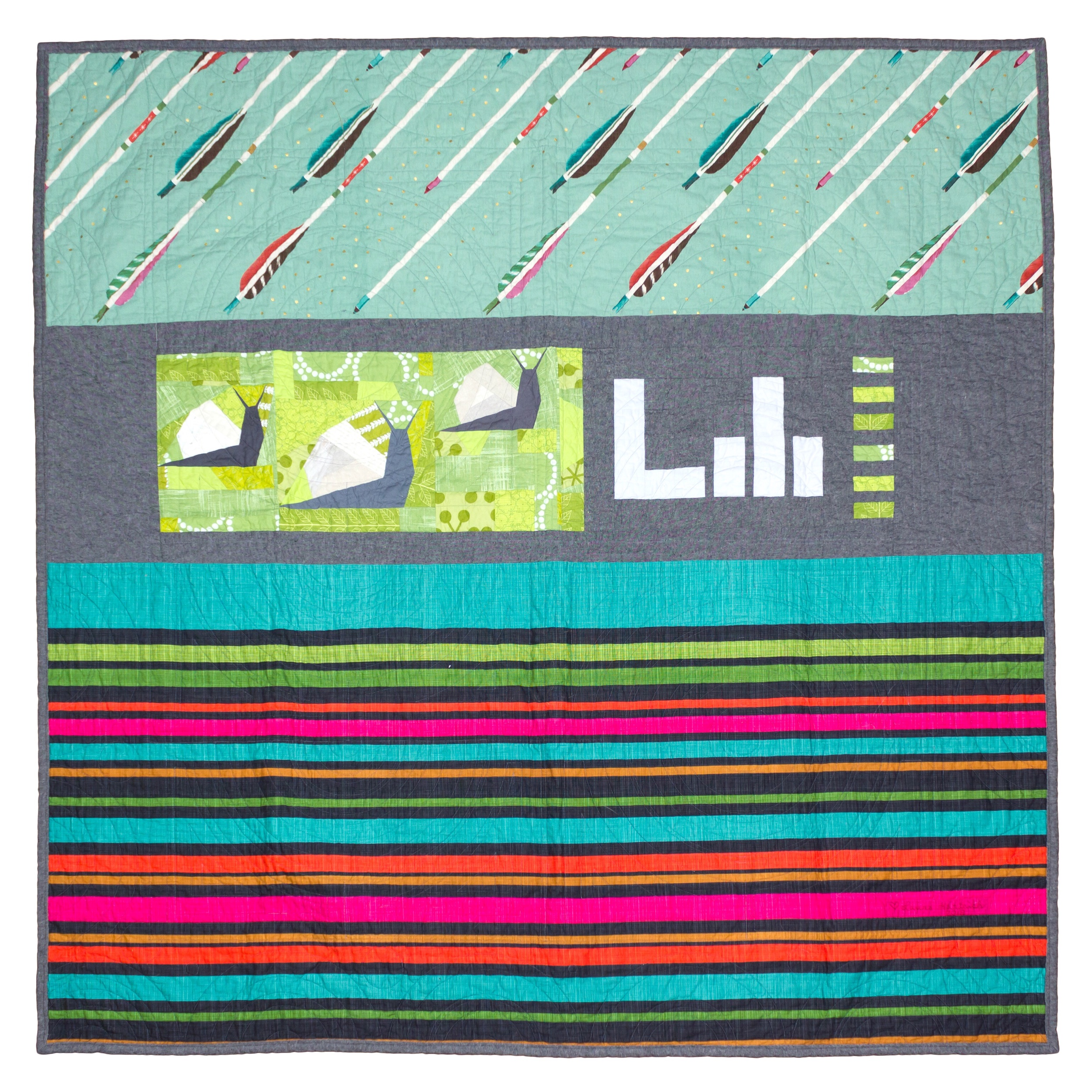 Lili's quilt, back