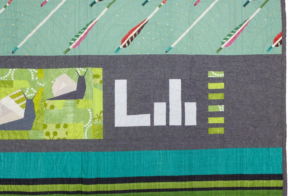 Lili's quilt, back detail