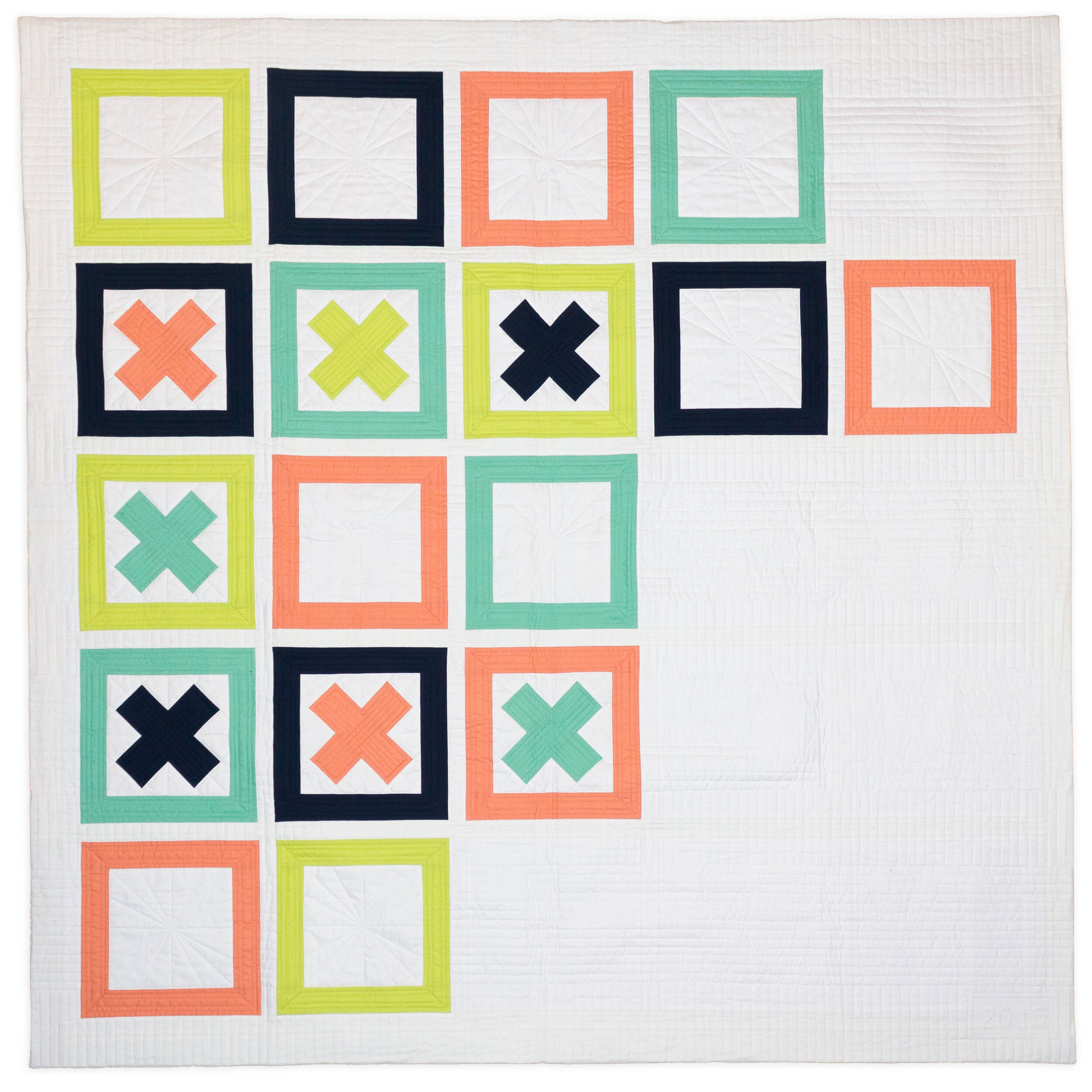"2015 Goal Visualization Quilt, 56"" square"