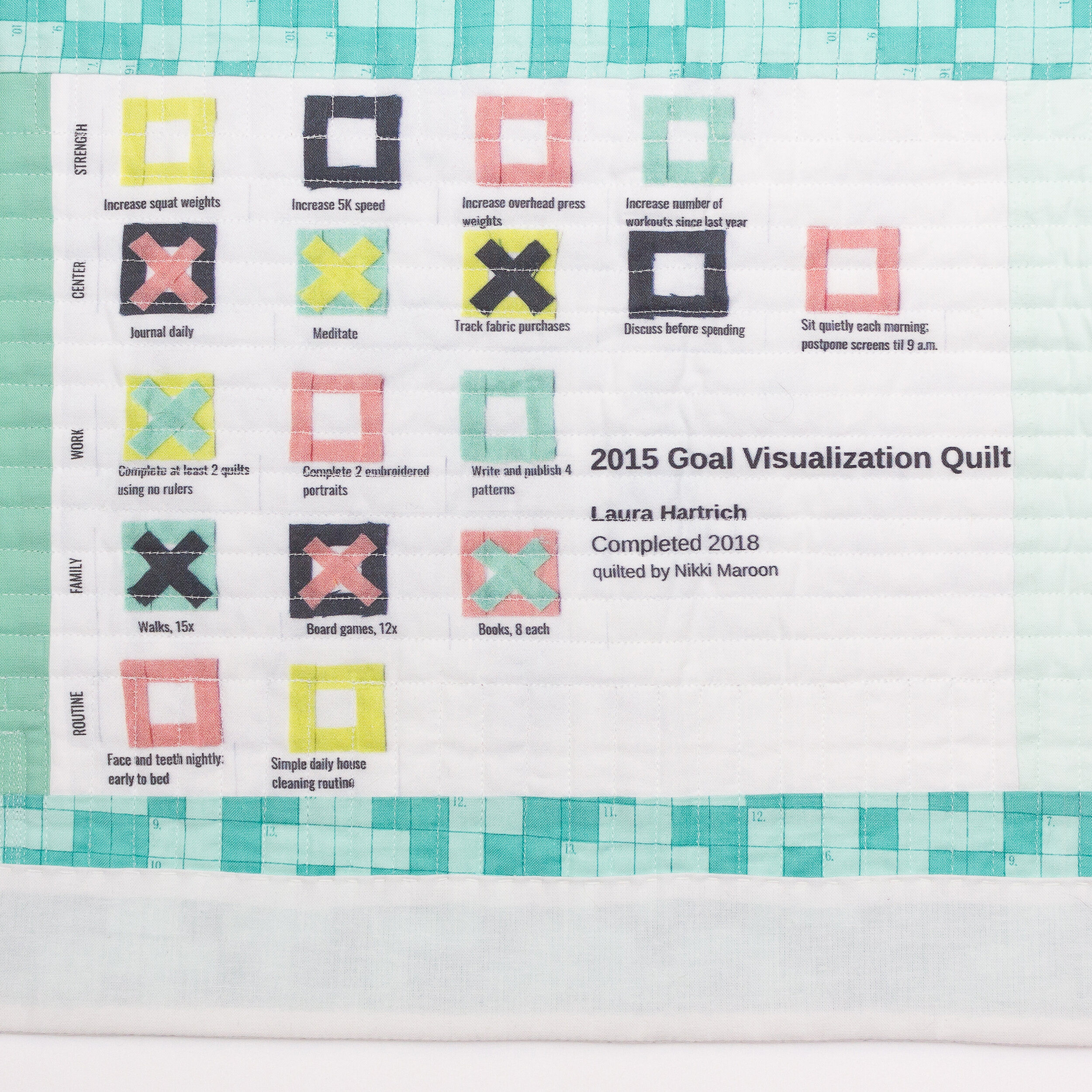 2015 Goal Visualization Quilt, label