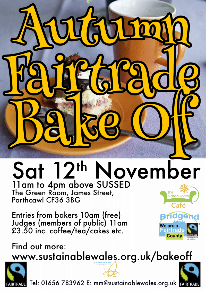 Fairtrade goodies at the bake off...