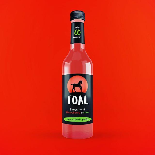 😜a yummy new design for a yummy new @foaldrinks flavour 🍓🍓🍓 - - #GRABaFOAL #madeinscotland #logo #glasgow #branding #design #graphicdesign #packaging #packagingdesign