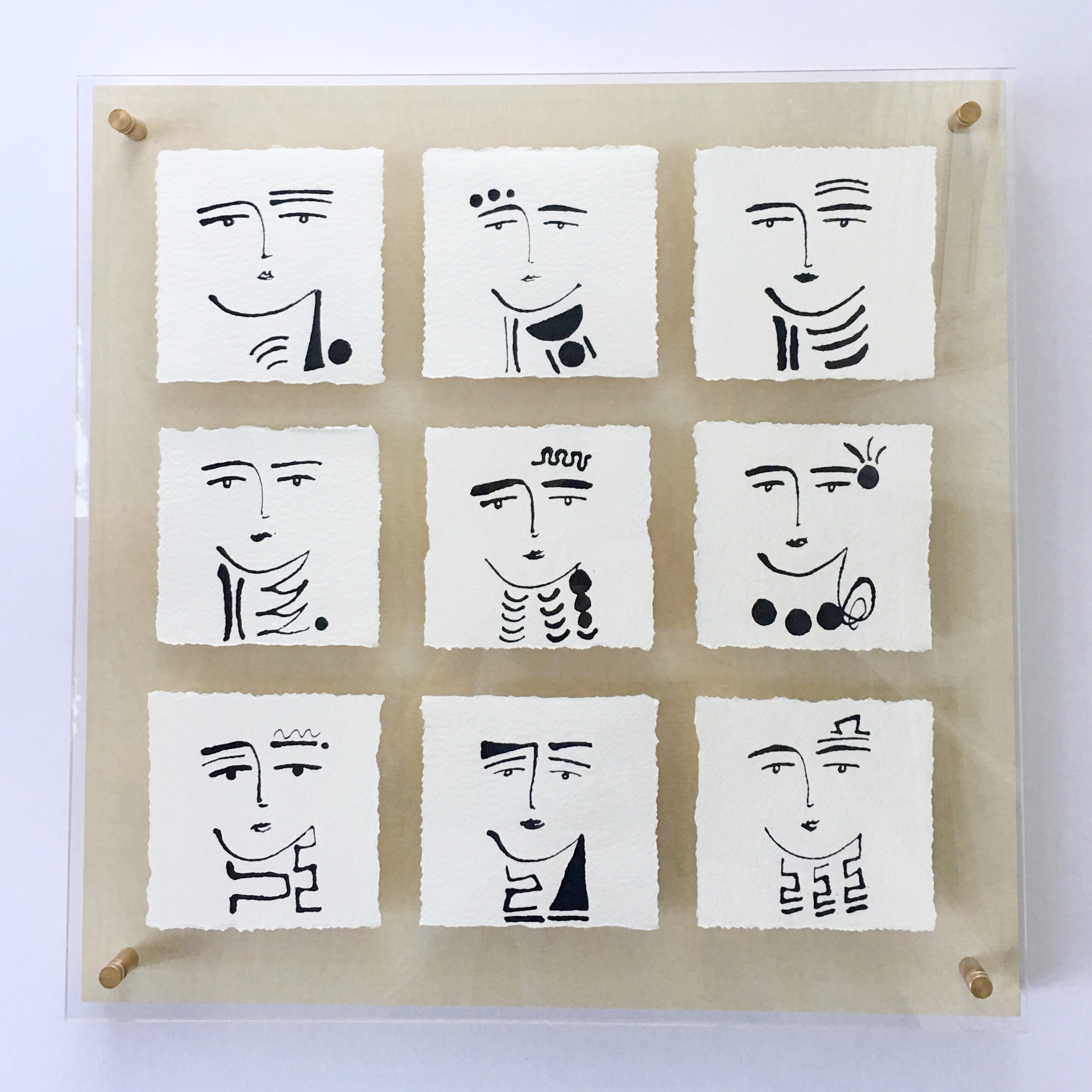 Phases of Faces I 2017 - 20x20 - Sold