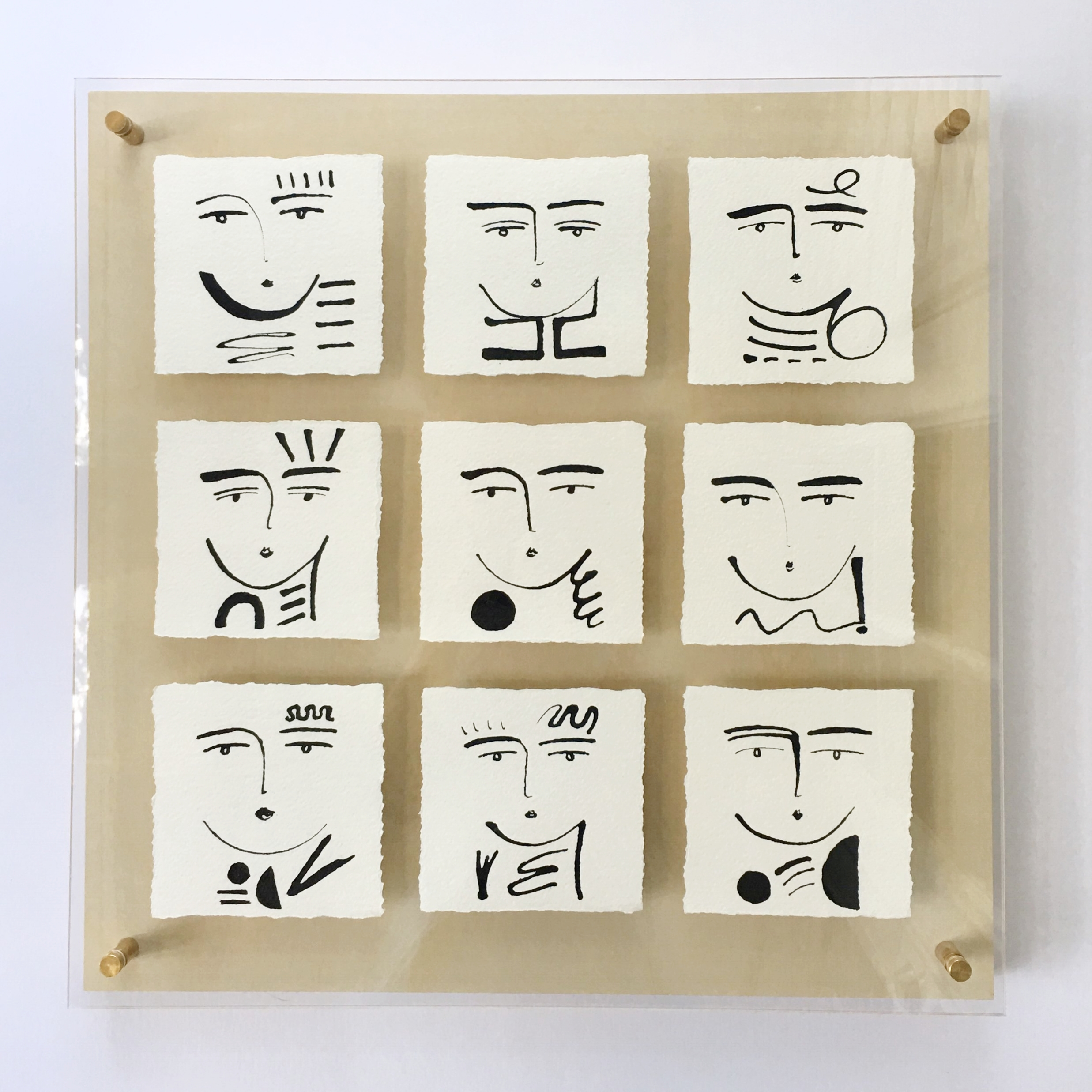 Phases of Faces III 2017 - 20x20 - Sold