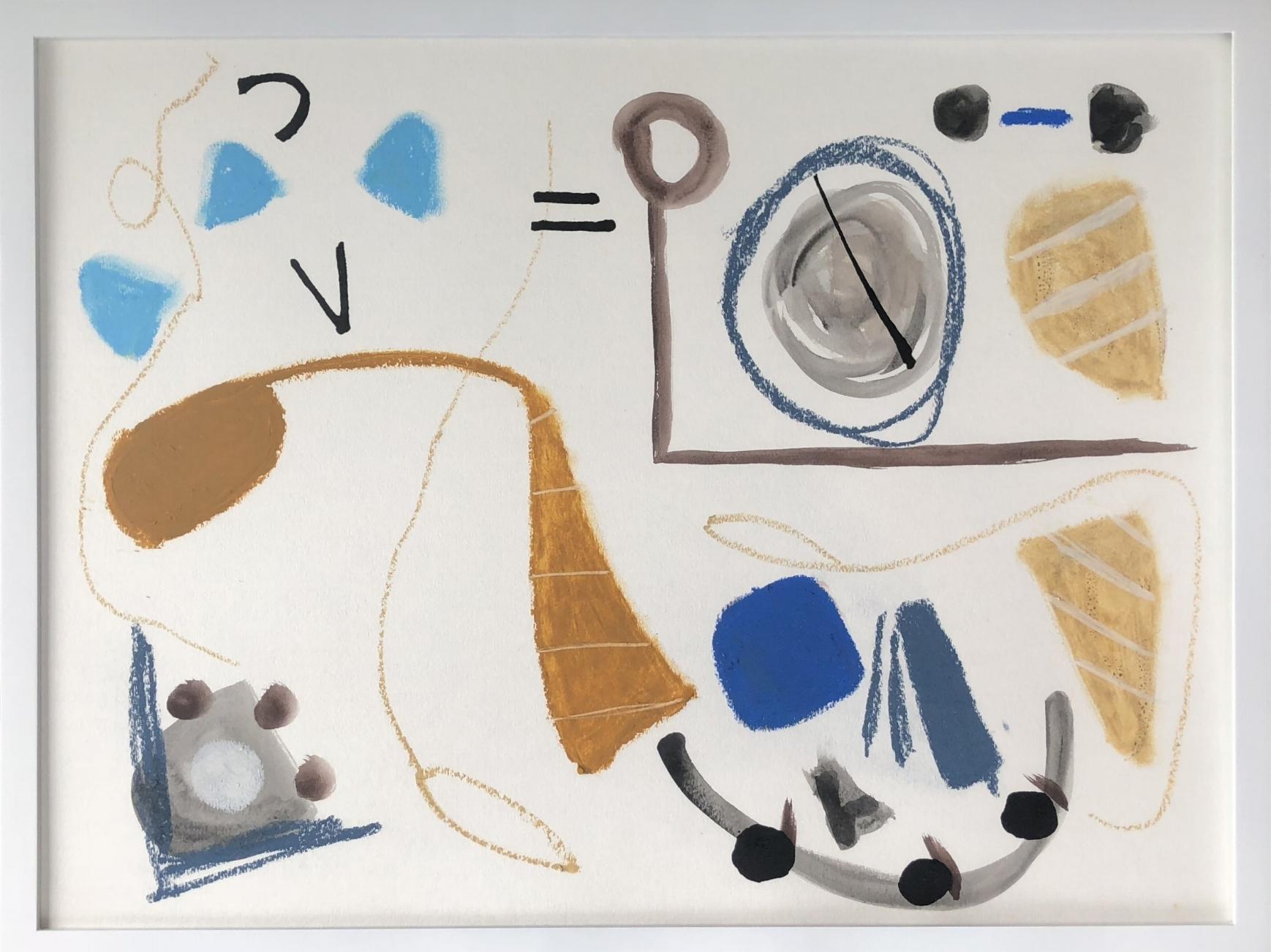 Figurative Scene Cabris 3, 18x24 - Sold
