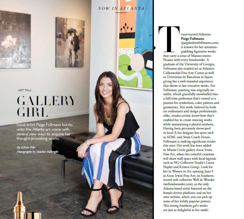 The Atlantan Modern Luxury featuring Paige Kalena Follmann in April 2017