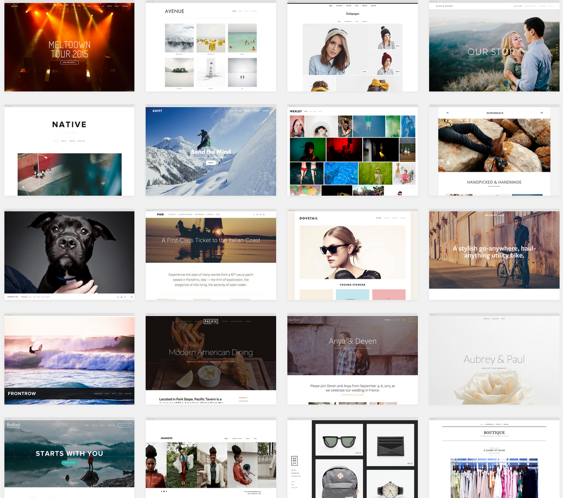 Click the pic to go to Squarespace's templates page
