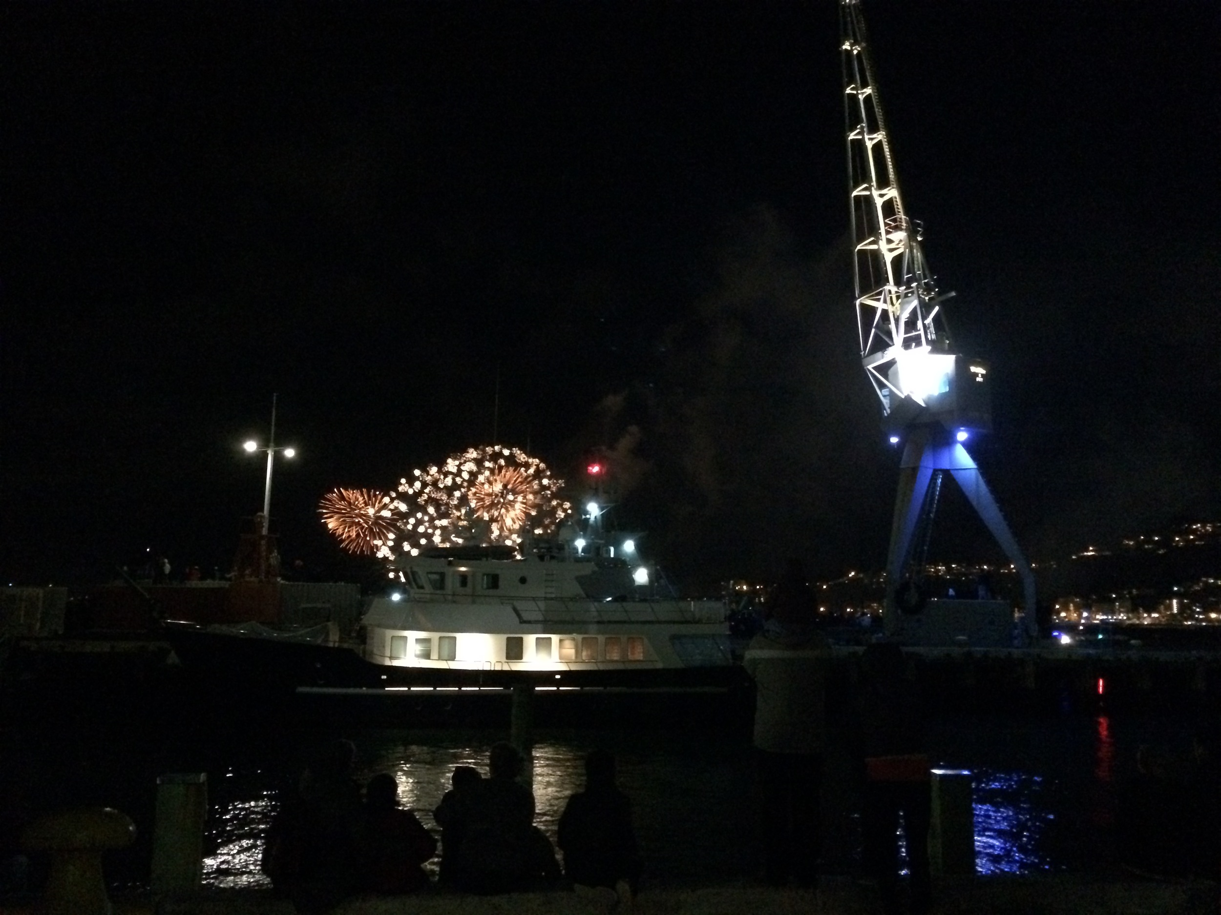 Fireworks night on the waterfront