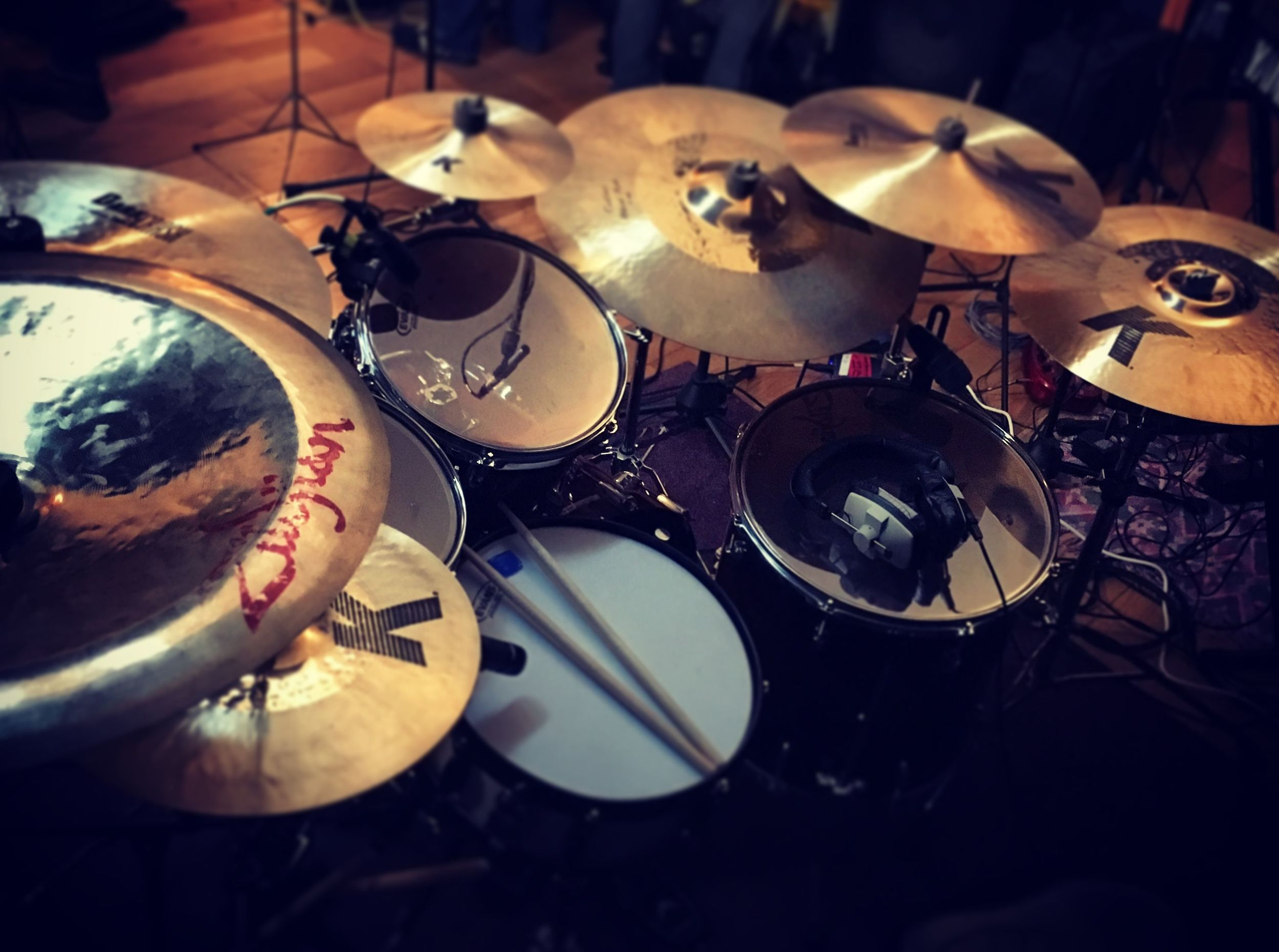 My regular set-up for most gigs