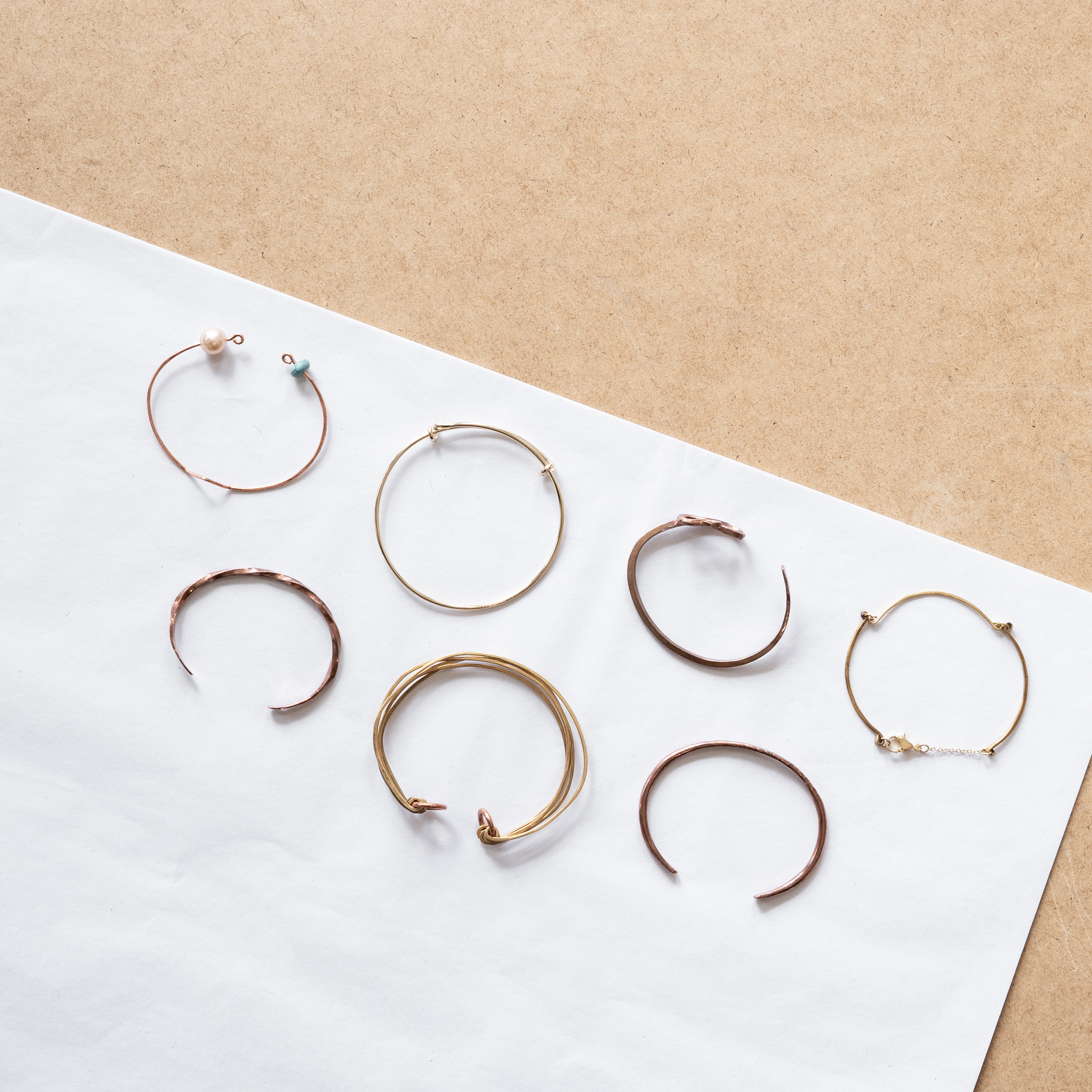 Cuff Class - $45 (brass/copper) $65 (silver)Work with wire to create a set of bangles or sheet metal to create a cuff.