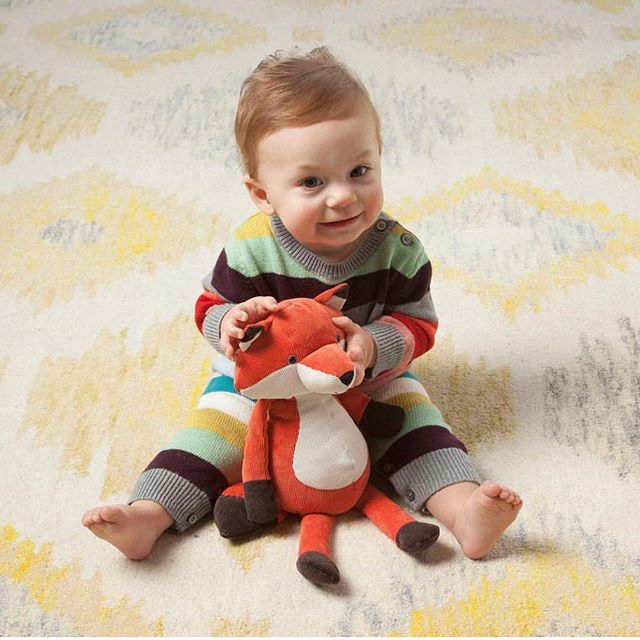 That one time my then baby boy modeled my toy design! #folksyforestersfox @manhattantoy posted this image and thanks @amyreitsma for letting me know! Fun memories! #manhattantoy
