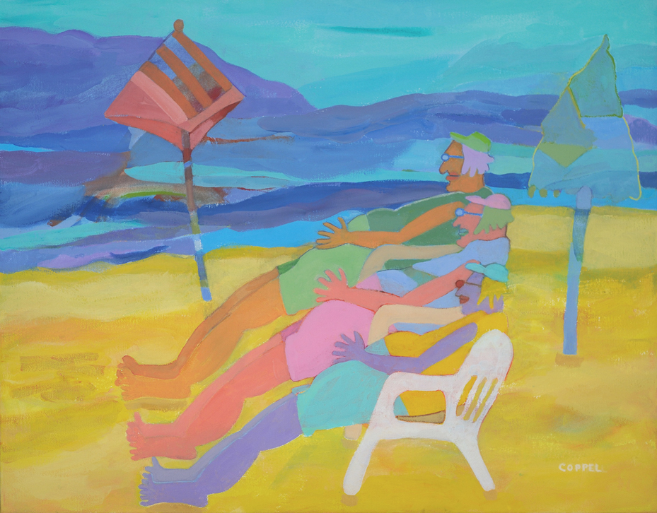 Loungin On The Beach In Technicolor