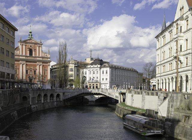 River Scene, Ljubljana