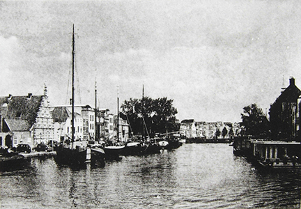 """The Rijn, Facing East (Leiden)"" by Mary D. Ott"