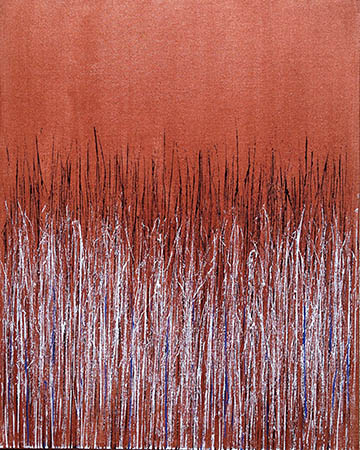 """Copper I"" 30in x 24in Acrylic by Mary D. Ott"