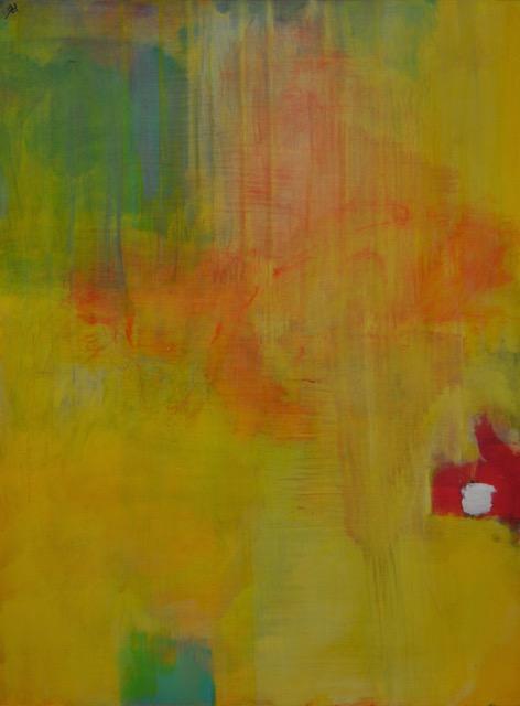"""""""Deep in Yellow""""   24"""" x 18"""", Acrylic on board"""