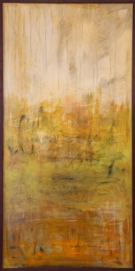 """""""In the Shade""""   Mixed media on canvas, 24' x 48"""""""