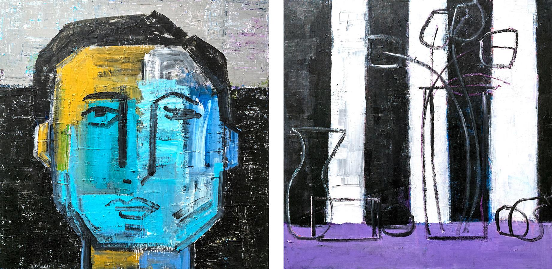 """Pair-ing 3"" Acrylic, 30 x 30 (each)"