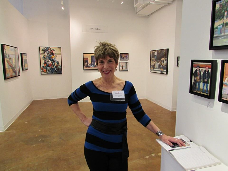 Shelley at the opening of Quotidian: The Art of Interaction