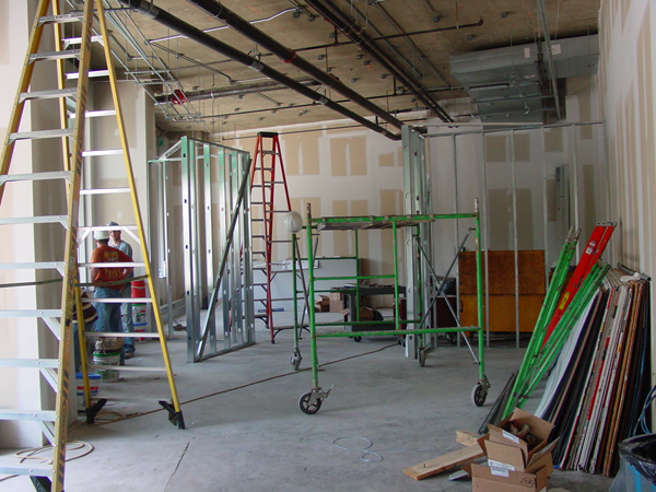 Build out in process at the new Touchstone Gallery 901 New York Ave NW, Washington DC